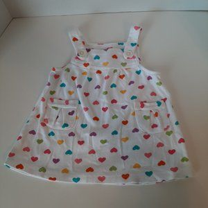 Carter's 6M Multicolor Hearts Jumper with pockets